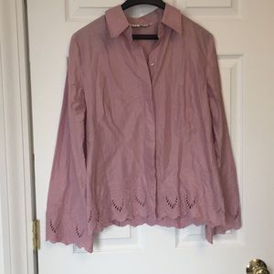 Max studio cotton blouse